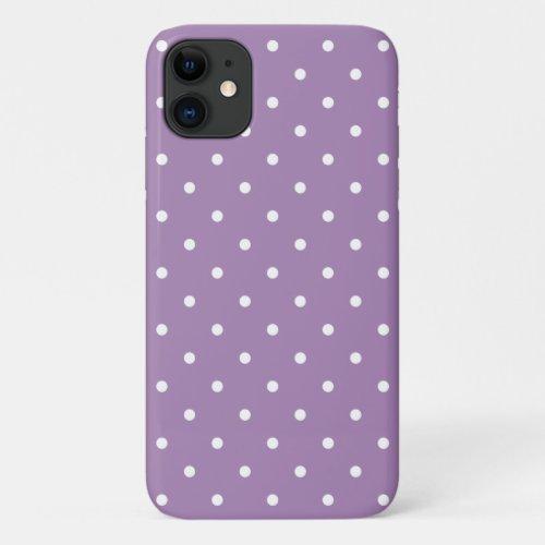 50s Style Violet Polka Dot iPhone, Plus & Pro Case Phone Case