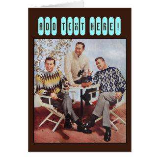 50's Sweater Guys Card