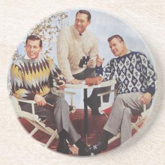 50's Sweater Guys Drink Coaster