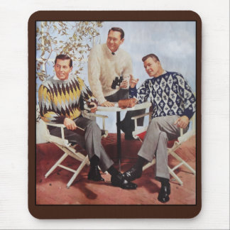 50's Sweater Guys Mouse Pad