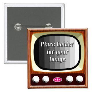 50s Television Template 2 Inch Square Button
