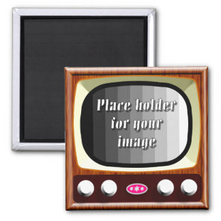 50s Television Template 2 Inch Square Magnet