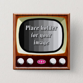 50s Television Template Pinback Button