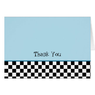 50's Thank You Note Card