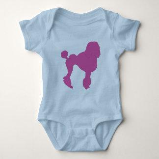 50s Vintage Pink Felt Poodle Baby Bodysuit