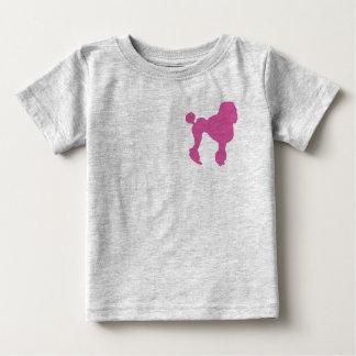 50s Vintage Pink Felt Poodle Baby T-Shirt