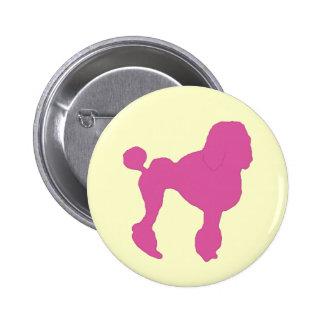 50s Vintage Pink Felt Poodle Button