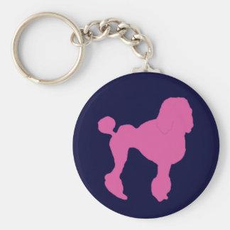 50s Vintage Pink Felt Poodle Keychain
