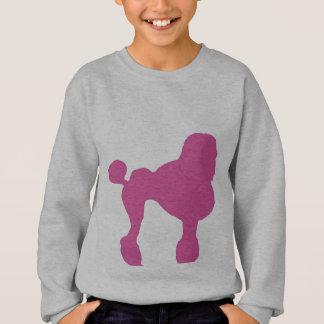 50s Vintage Pink Felt Poodle Sweatshirt