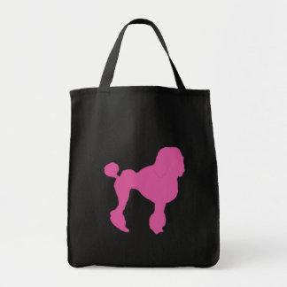 50s Vintage Pink Felt Poodle Tote Bag