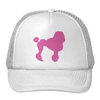 50s Vintage Pink Felt Poodle Trucker Hat