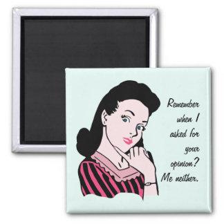 50s Woman Sarcasm Magnet