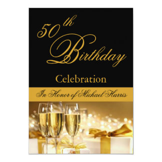 50th-59th Birthday Party Personalized Invitation