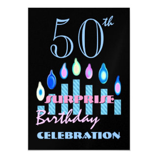 50th - 59th SURPRISE Birthday Party Invitation