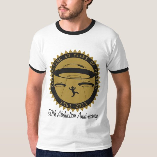 50th Abduction Anniversary Men's Ringer T-Shirt