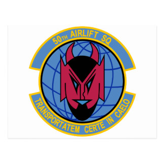 50th Airlift Squadron Postcard