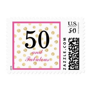 50th and fabulous birthday postage