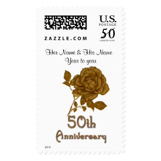50th Anniverary Custom Postage Stamps