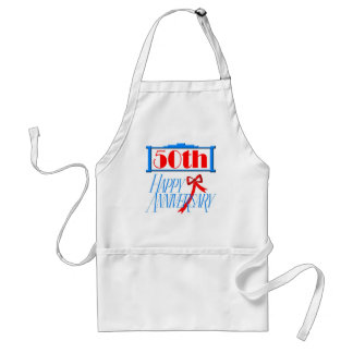50th anniversary 3 adult apron