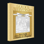 "50th Anniversary 8x8 Personalized Photo Canvas Print<br><div class=""desc"">Give this customized 50th Golden Anniversary Canvas Print as a gift for the couple to cherish the memories of celebrating 50 years of marriage.</div>"