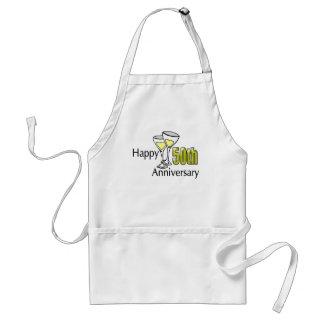 50th anniversary adult apron