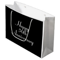 50th Anniversary Black and White Template Gift Bag