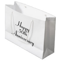 50th Anniversary Black Text Template Gift Bag