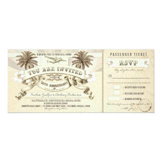 50th anniversary boarding pass tickets invitations