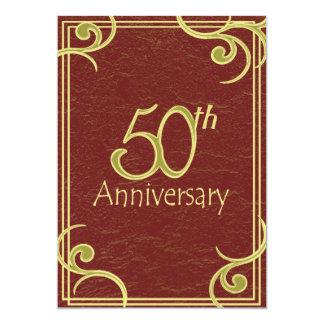 50th Anniversary Book Custom Invitation