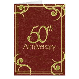 50th Anniversary Book Invitation Greeting Cards