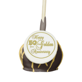 50th Anniversary Cake Pops with Icing