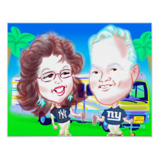 50th Anniversary Caricature Poster