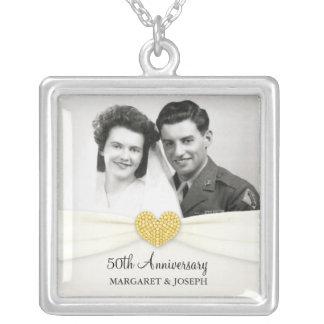 50th Anniversary Celebration Wedding Photo Pendant