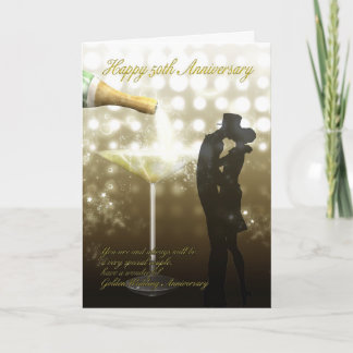 50th Anniversary - Champagne Card