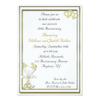 50th Anniversary Champagne Invitation