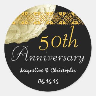 50th Anniversary CHAMPAGNE Rose Sticker