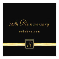 50th Anniversary - Classic Monogram Invitations