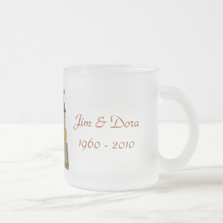 50th Anniversary Clear Frosted Mug- customize