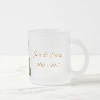50th Anniversary Clear Frosted Mug- customize it 10 Oz Frosted Glass Coffee Mug
