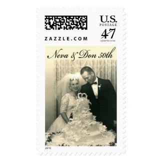 50th Anniversary Custom Postage