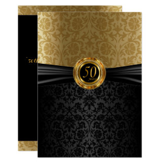 50th Anniversary Damask Design Card