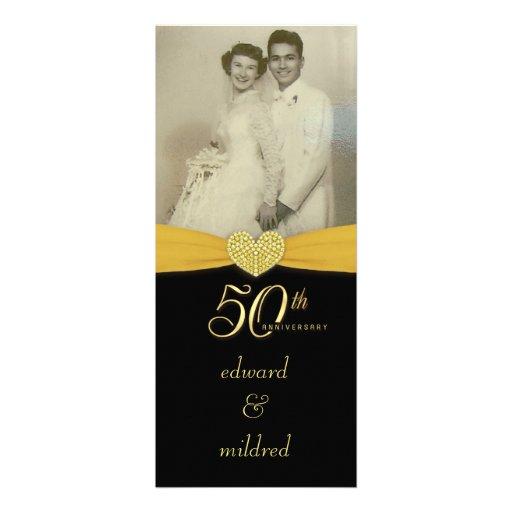 50th Anniversary - Elegant Photo Invitations