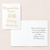 50th Anniversary Foil Card