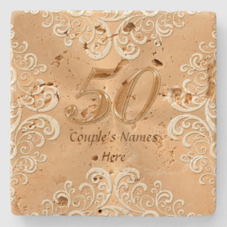 50th Anniversary Gifts Ideas Personalized Coasters Stone Beverage Coaster