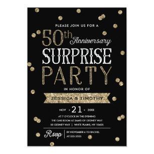 50th anniversary glitter confetti surprise party invitation 50th anniversary glitter confetti surprise party invitation stopboris Images