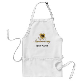50th Anniversary - Gold Adult Apron