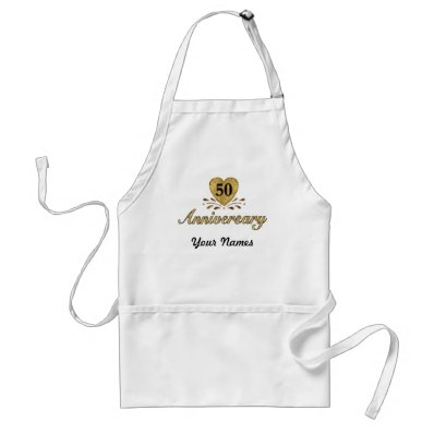 50th Anniversary - Gold Aprons