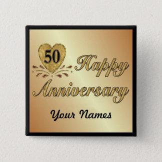 50th Anniversary - Gold Button