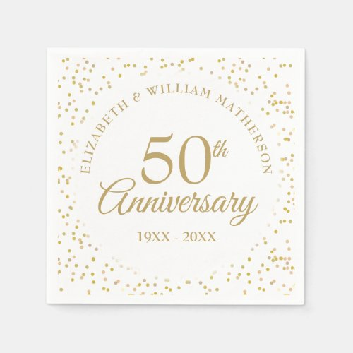 50th Anniversary Gold Dust Napkins