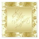 50th Anniversary Gold FAUX Glitter Invitation